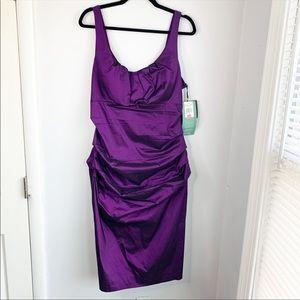 Purple Cocktail Dress Size 16